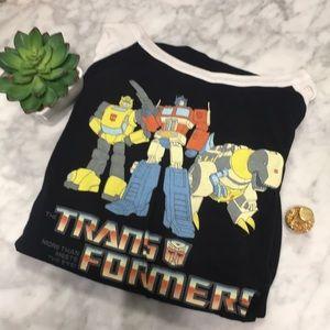 Transformers logo baseball tee